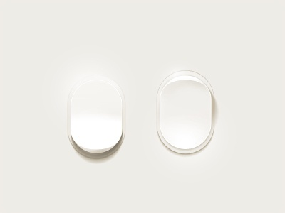 Light Switches light white interface dial lighting soft glow
