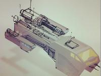 Isometric Cruiser Sketch