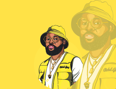 falz the bahd guy vector design illustration