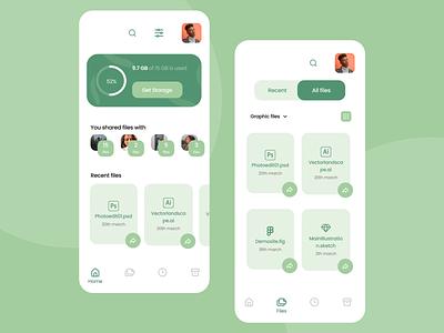 File Manager App ux ui product mobile ui mobile application mobile app design mobile app mobile design app
