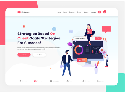 marketing web ui landing page! flat minimal ux  ui clean ui ui design website design agency agency landing page modern clean app illustration