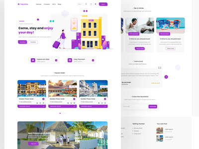 Hotels and resorts web ui design trend ui design agency website design ux  ui minimal clean ui clean app