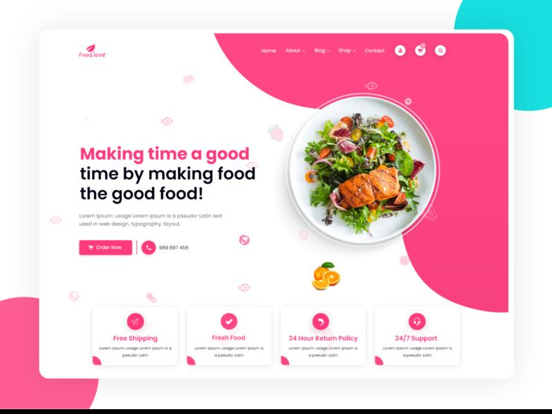 Food Ui modern design ui design ui kit uiux uidesign ui logo design ui challenge ui 2020 illustration agency website design ux  ui minimal