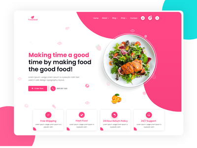 Food Ui modern design ui design ui kit uiux uidesign ui logo design ui challenge ui 2020 illustration agency website design ux  ui minimal