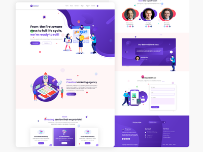 ui for Marketing team webdesign design app landing page design landingpage website concept modern ui ui design agency landing page ui design clean app agency website design ux  ui