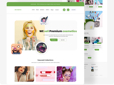 Designed for cosmeticd shop cosmetics ui cosmetic logo comics cosmetic ui challenge ui 2020 modern ui design trend ui design minimal agency landing page illustration agency website design ux  ui