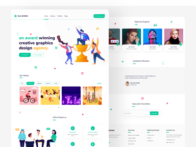 design agency website design illustration agency landing page design trend clean ui modern ui ui design clean app agency