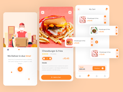 Food Delivery Ui app website design ui delivery app food app clean ui minimal modern ui illustration ux  ui ui design