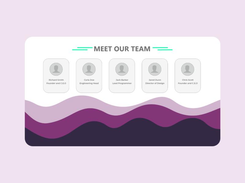 Team Page - UI Design purple magenta web bezier curves team ui logo illustration