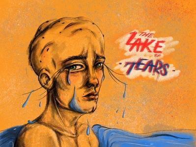 Lake of tears art digital illustration poster art poster design human procreate design illustration