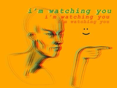 The Watching man procreate poster design poster art illustration human digital illustration design art