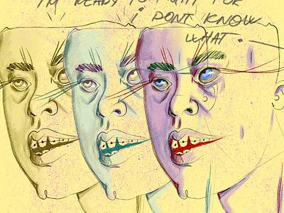 So unsure dribbble inspiration webdesign procreate poster design human poster art illustration digital illustration design art