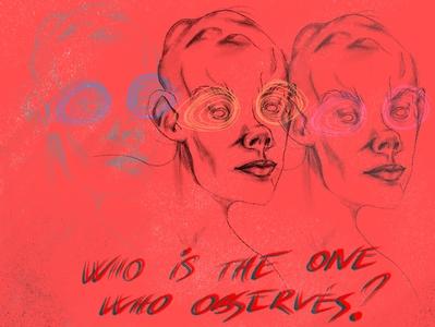Who's the observer? inspiration dribbble procreate poster design poster art illustration human digital illustration design art