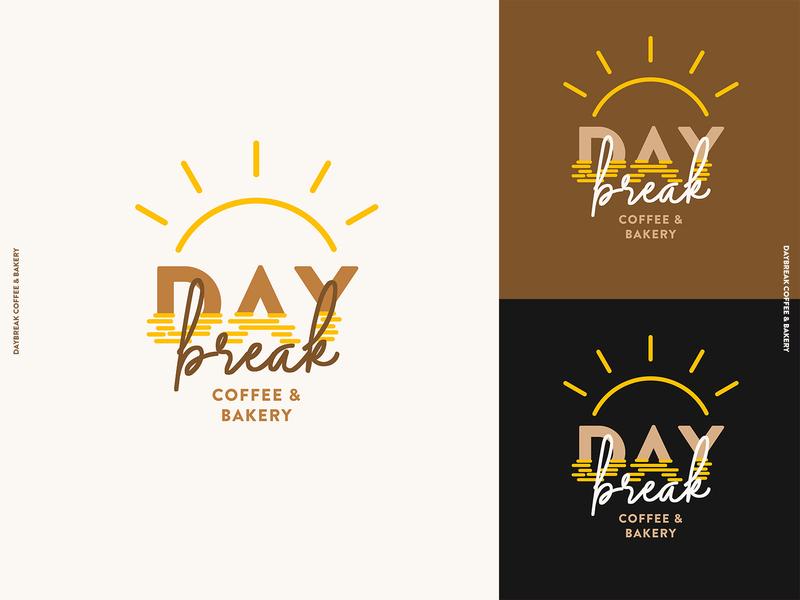 daybreak cafe logo bakery cafe bakery logo illustration minimal logo flat design branding