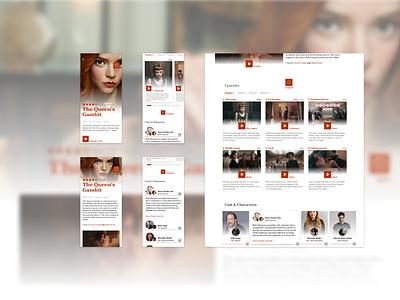 Detail of a content platform II web ux app ui