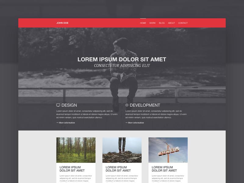 Simple portfolio (WIP) simple portfolio webdesign website photoshop wip flatdesign personal flat