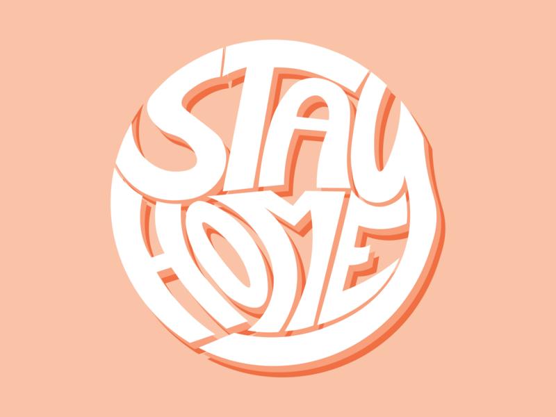 Stay Home Draft 1 typography art vector minimal illustrator illustration flat graphic design design