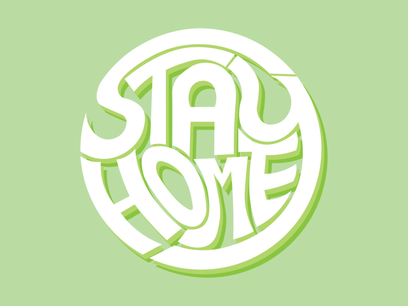 Stay Home Draft 3 typography minimal illustrator illustration graphic design flat design art