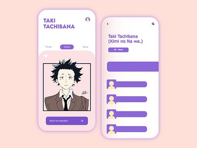 Anime - Mobile App art web app ui app concept interface design interfacedesign userinterface design app design ux ui app vector illustration