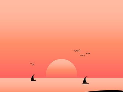 Sunset   Digital Art kite sun art direction background design background app design ui trandy 2021 tranding artwork art rahatlmao typography graphic branding vector design illustration