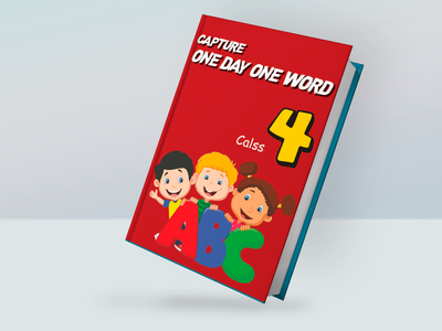 Book Cover - English Book book mockup blue book red red book children book book english book mockup design vector illustration book cover branding graphic design