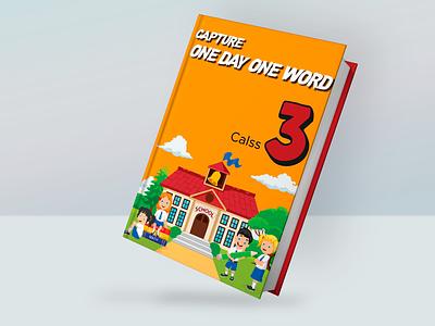 Book Cover - English Book children book english book 3d book mockup book mockup orange book red book book typography graphic vector design illustration branding 3d graphic design