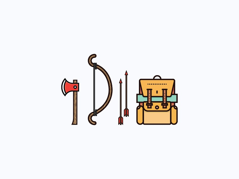 Adventure time flat icons illustration