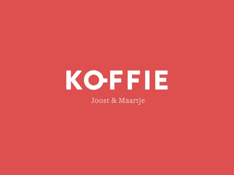 Koffie logo branding identity