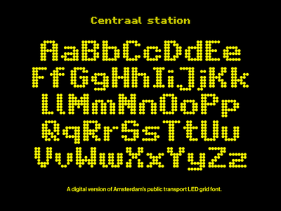 Centraal station led digital dots grid custom typeface custom lettering custom type lettering custom type typography