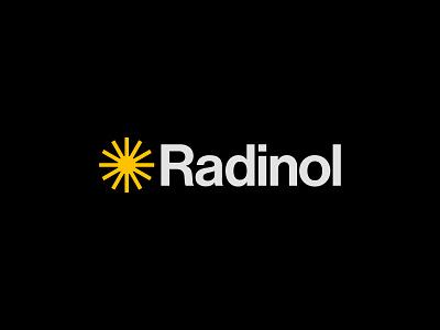 Radinol typography design brand identity branding type logotype