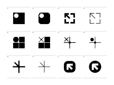 Front left logosketch sketches monogram logomark design brand identity branding logotype logo