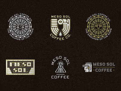 Meso Sol gods grounds gold brew coffee ancient sun sol meso incan mayan aztec