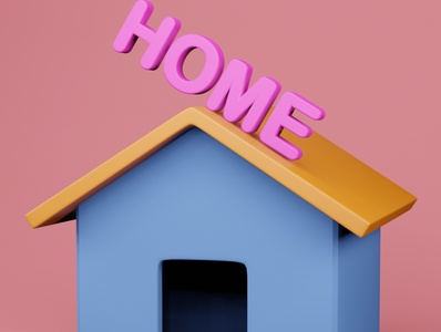 HOME icon 3d ui design illustration