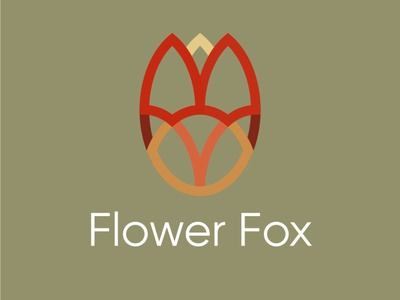 flowerfox app graphic design vector design branding logo