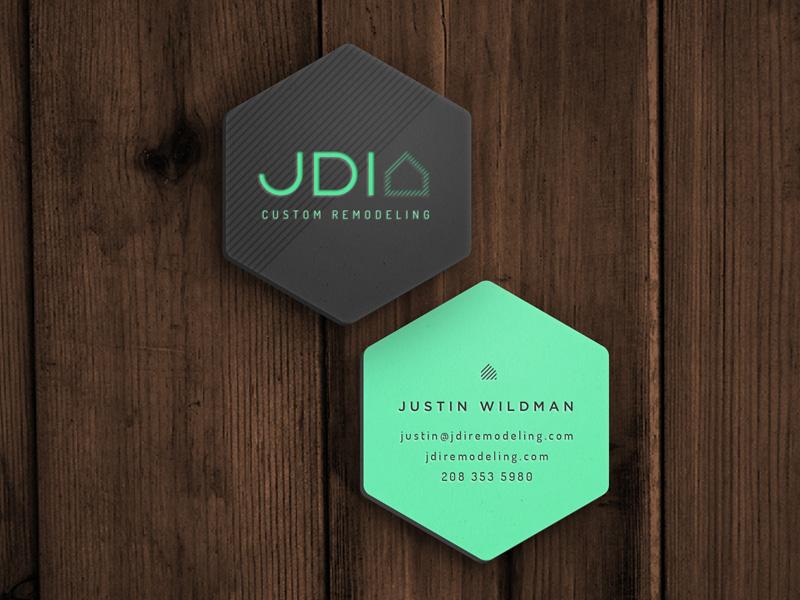 JDI Bizcard concept 1 branding hexagon business card