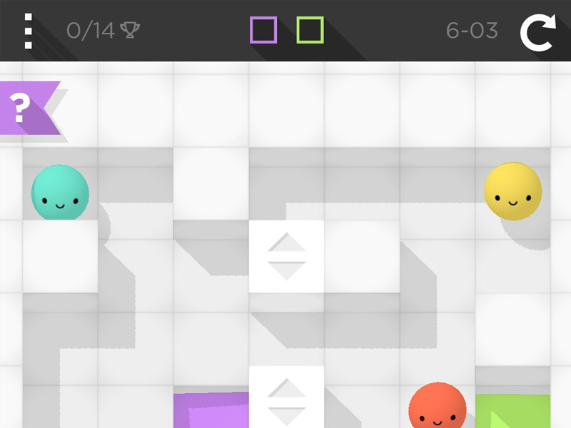 Smoosh App Screenshot ipad iphone android puzzle game paint ball