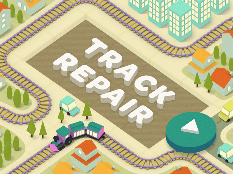 Hmh Puzzler 1 track train game low poly 3d