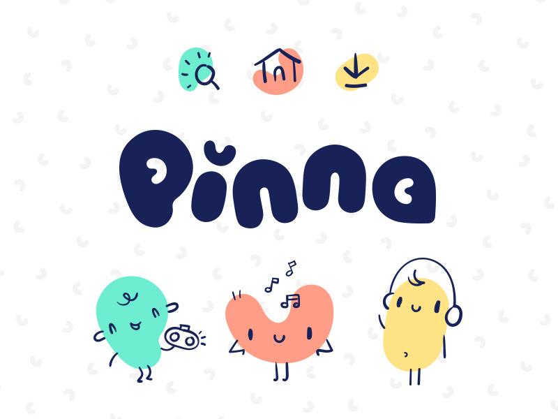 Pinna - rejected branding option noodle podcasts ear branding logo