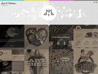 JMH Responsive Fullscreen Portfolio Site Idea