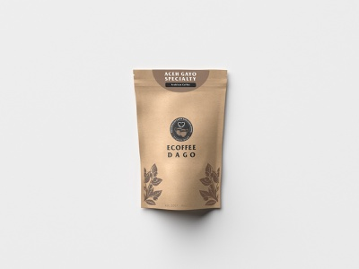 ECoffee Dago Packaging (Front Side) paper bag coffee bean coffee packaging mockup packaging design packaging brand design brand identity promotional design brand branding design promotional promotion branding layout design layout design