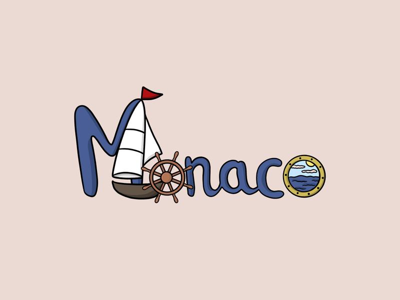 Monaco - illustration illustrator design drawingart blue monaco drawing warm vector custom art adobe illustrator