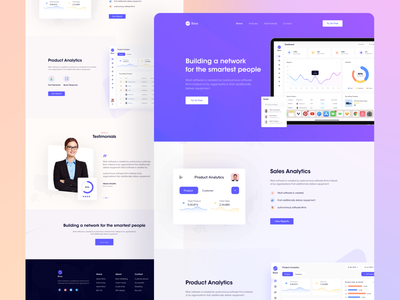 SaaS Landing Page UI Design saas landing saas landing page saas dashboard landing page animation ui landing page ui dashboard app dashboard design landing page design modern saas website saas app template webflow webflow template landing design landing pages analytics