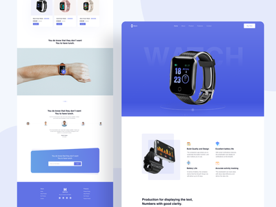 Smart Watch Product Landing Page store landing page watches store shop app shop landing page ui ux smart watch landing page landing page web design watch typogrpahy watch landing page product landing page product website product page ecommerce