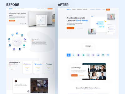 Zoom _ SaaS Landing page Redesign ecommerce product alamin hossen software as a service saas app saas landing page saas design software as a service website fintech software landing page clean landing page website minimal webflow saas saas website ux ui web design