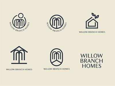 Willow Branch Homes logo design illustration