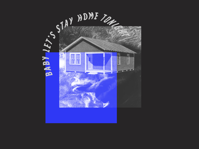 Baby Let's Stay Home Tonight band merch tshirt