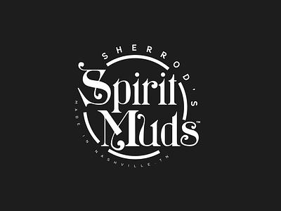 Spirit Muds logo design handlettering typogaphy illustration branding