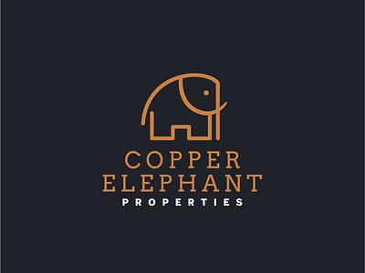 Copper Elephant Properties copper elephant property branding logo design logo