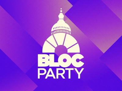 Justice Democrats Bloc Party Podcast Art democrats design logo branding illustration