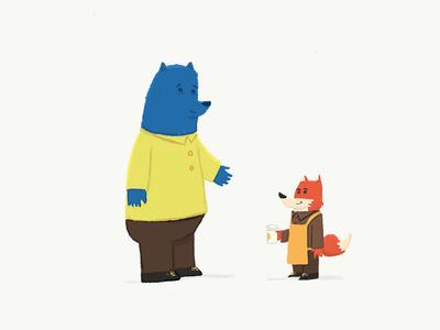 a bear and his barista